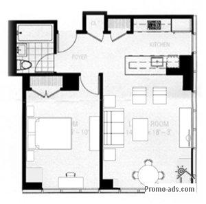 floorplan - Manhattan, New York Vacation Condo Rental